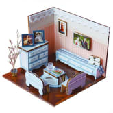 Exclusive Imports 3D Wooden Puzzle DIY Model Mini Warm & Sweat Home