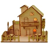 Exclusive Imports 3D Wooden Puzzle DIY Model Loving House with LED