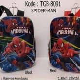 tas ransel anak sekolah  spiderman( motif timbul)
