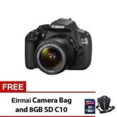 Canon EOS 1200D 18MP with EF-S 18-55mm IS II Lens Kit and Free Eirmai Camera Bag and 8GB SD Card