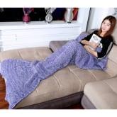 Mermaid Blanket With Scales (Purple)