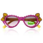 Oem Cute Child Boys Girls Kids Style Sunglasses Glass Polka Dot Goggles Bow Eyewear Purple box yellow feet (EXPORT) - Intl