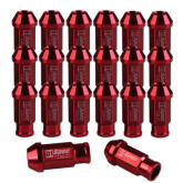 Vakind 20pcs D1 Spec JDM Racing Wheel Lug Nuts M12X1.5 for Honda Ford Toyota Red (Export) - Intl