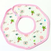 HKS Waterproof Baby saliva towel Bib (Pink)