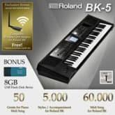 Keyboard Roland Bk-5 ( Original )