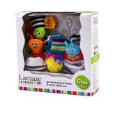 Baby Steps Lamaze Gardening Foot Finder and Wrist Rattle Stripes Set (Multicolor)