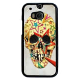 Skull Tattoo Patterned Pattern Phone Case for HTC One M8 Multicolor (EXPORT)