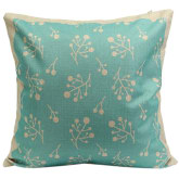 Blue Lans Blue lans Bluelans Trendy Flower Cotton Linen Throw Pillow Case Cushion Cover Home Decor Light Green