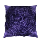 Blue Lans Blue lans Bluelans Satin 3D Rose Flower Square Throw Pillow Cushion Case Cover Sofa Decor Purple