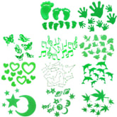 Oem Fang Fang Magic Glow In The Dark Baby Kid Child Nursery Bedroom Decor Sticker (Green) (Intl)