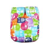 Babyland - Cloth Diaper Microfiber Colourful Owl - Multicolor