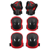 6PCS Adult Protective Gear Safety Knee Elbow Wrist Pads (Red) - Intl