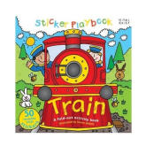 Miles Kelly Sticker Play Books: Train with 50 Stickers (Double Sided Playmat)