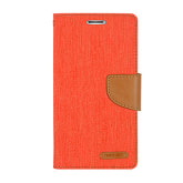 Mercury Canvas Wallet Galaxy Grand Max Case - Orange Camel