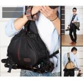 Caden K1 Waterproof Fashion Casual DSLR Camera Bag Case Messenger Shoulder Bag for Canon Nikon Sony Black