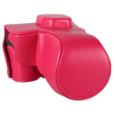 RED Leather Camera Case Bag Cover For Sony A7R A7