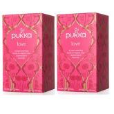 Pukka Herbs , Love, Organic Rose, Chamomile & Lavender Tea, Caffeine Free, 20 Tea (Twin)