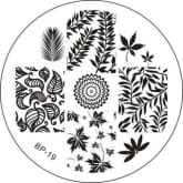 BORN PRETTY Leaves Nail Art Stamping Plate BP-19