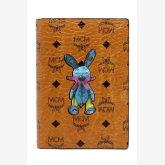 Mcm MCM Rabbit Passport Wallet Coated Canvas Cowhide (Cognac)