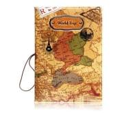 3D World Map Pattern Unisex Passport Holder