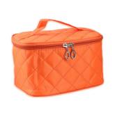 Oem Square Fold Cosmetic Makeup Zipper Bag Washing Tool Gargle Storage Organizer Bag(Orange)
