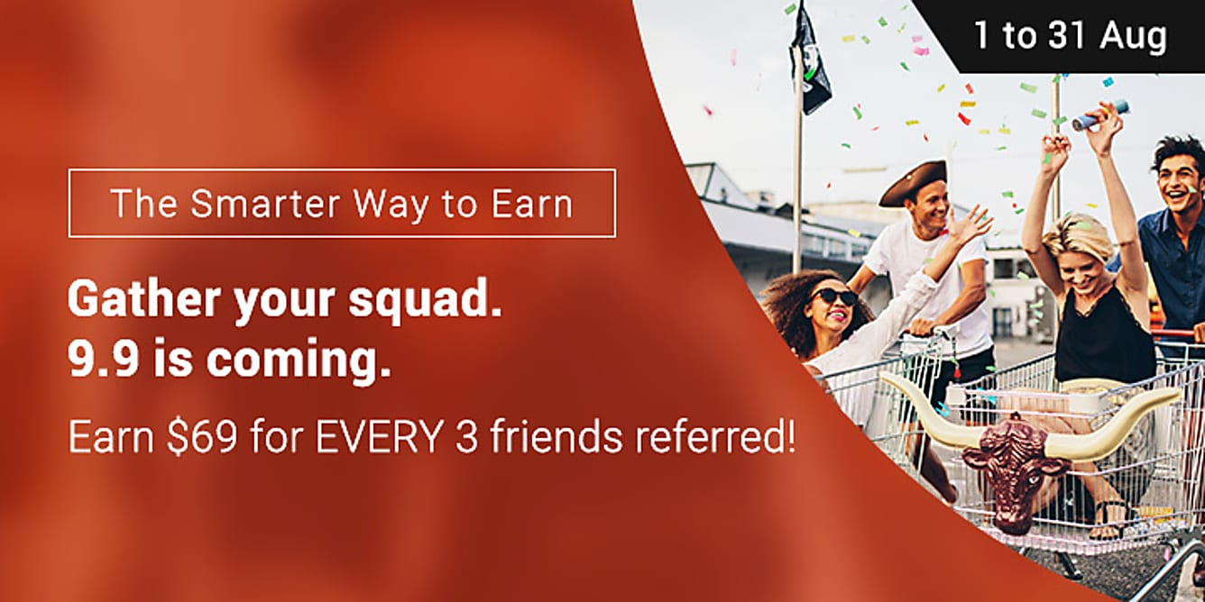 Refer 3 friends, earn $69