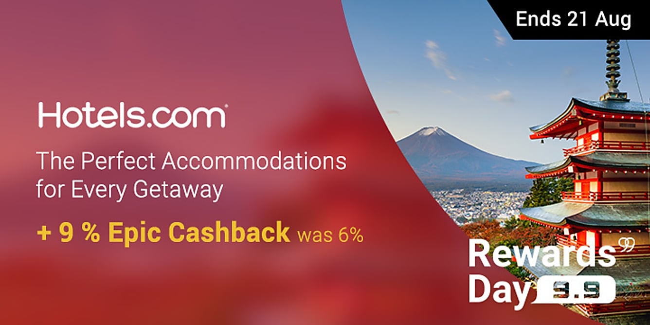 99 Hotels 9% Epic Cashback