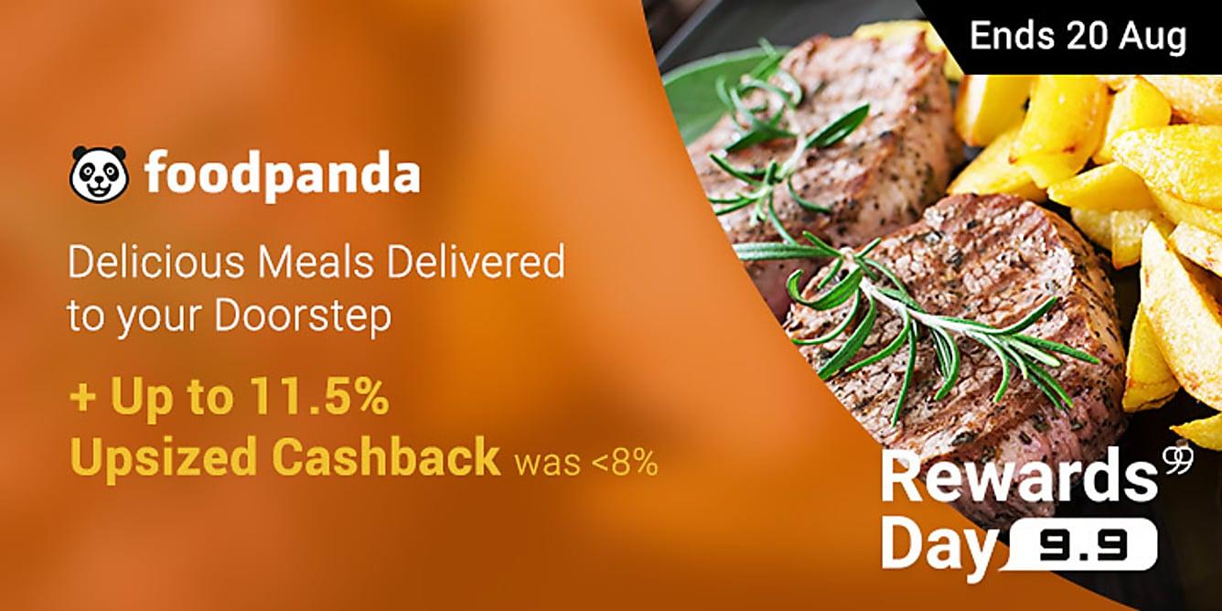 99 Foodpanda 11.5% Upsized Cashback