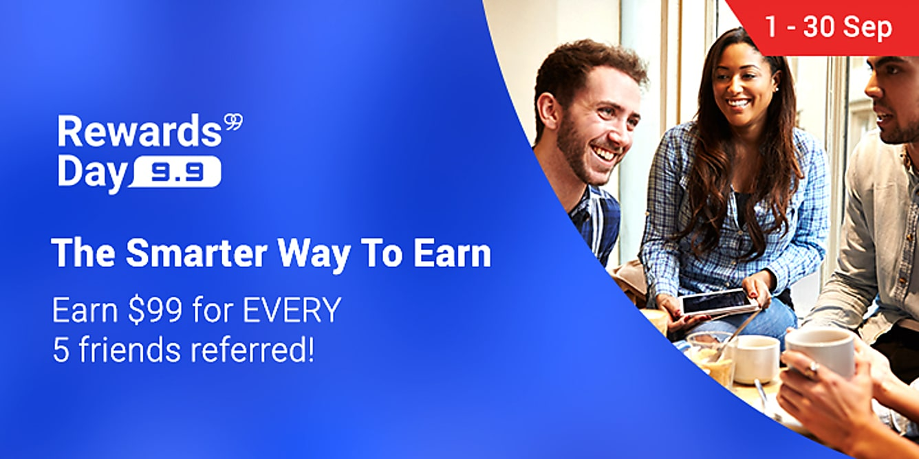 Refer 5 friends, get $99 Bonus Cashback