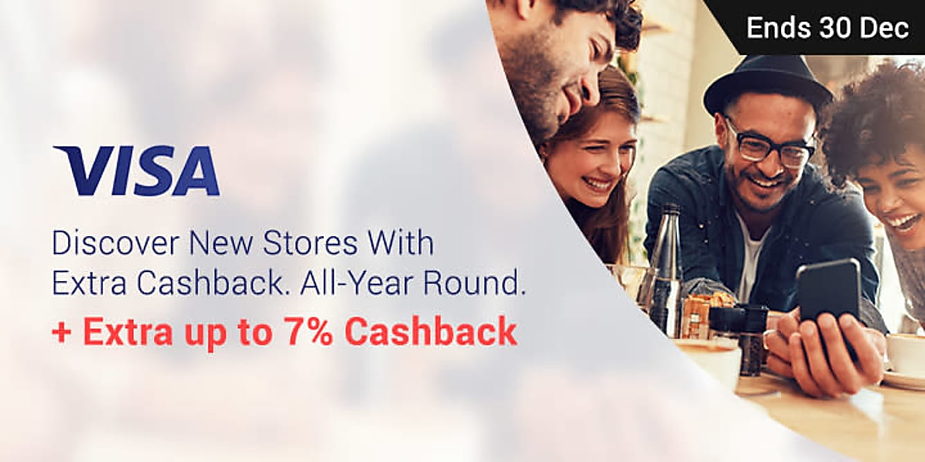 Visa up to 7% Extra Cashback!