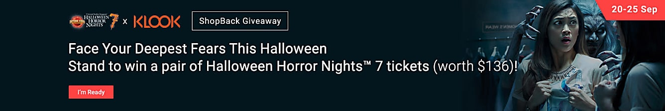 Klook Win 1 out of 7 Halloween Horror Nights Tickets