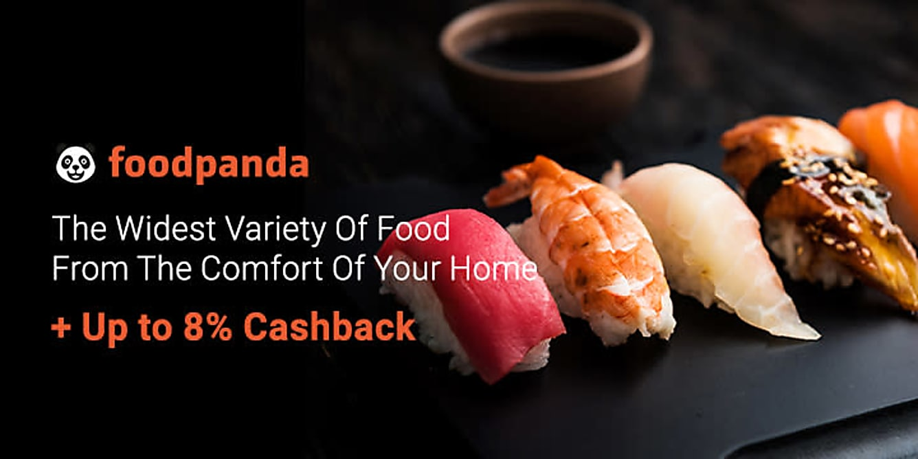 Foodpanda + Up to 8% Cashback