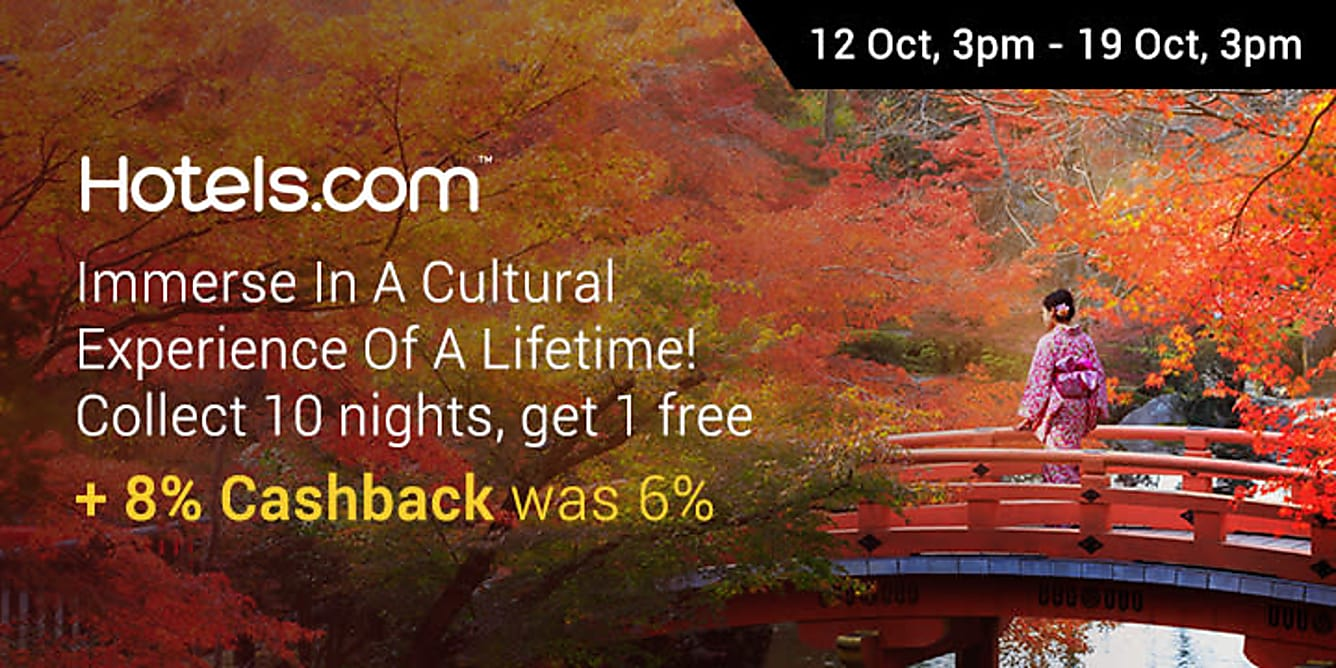 Hotels.com 9% Cashback!