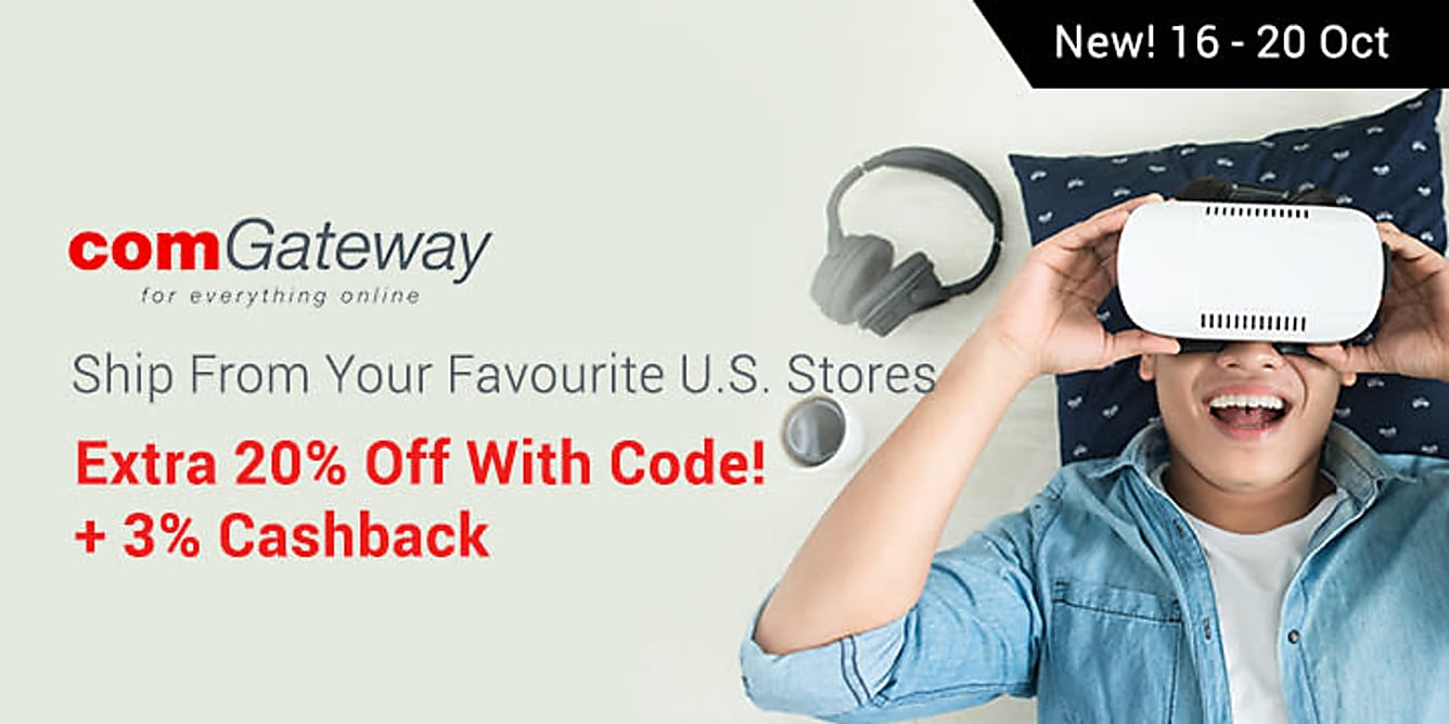 comGateway Ship From Your Favourite U.S. Stores: Extra 20% Off With Code!