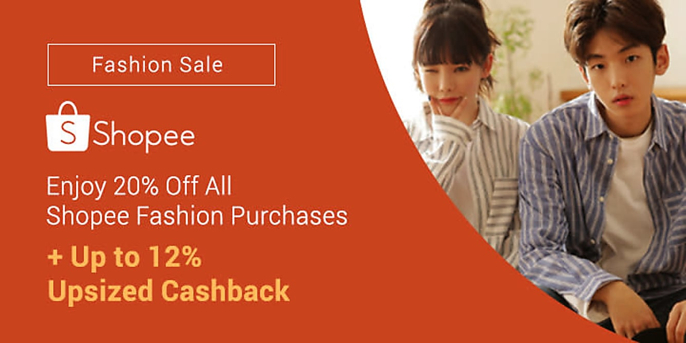 Shopee Enjoy 20% Off All Shopee Fashion Purchases!