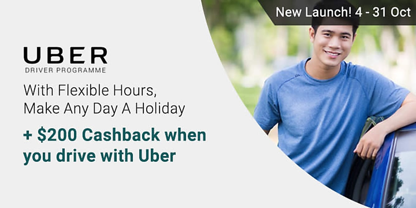 Uber With Flexible Hours, Make Any Day A Holiday + $200 Cashback!