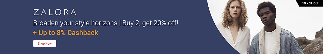 ZALORA: Buy 2, Get 20% off + Up to 8% Cashback