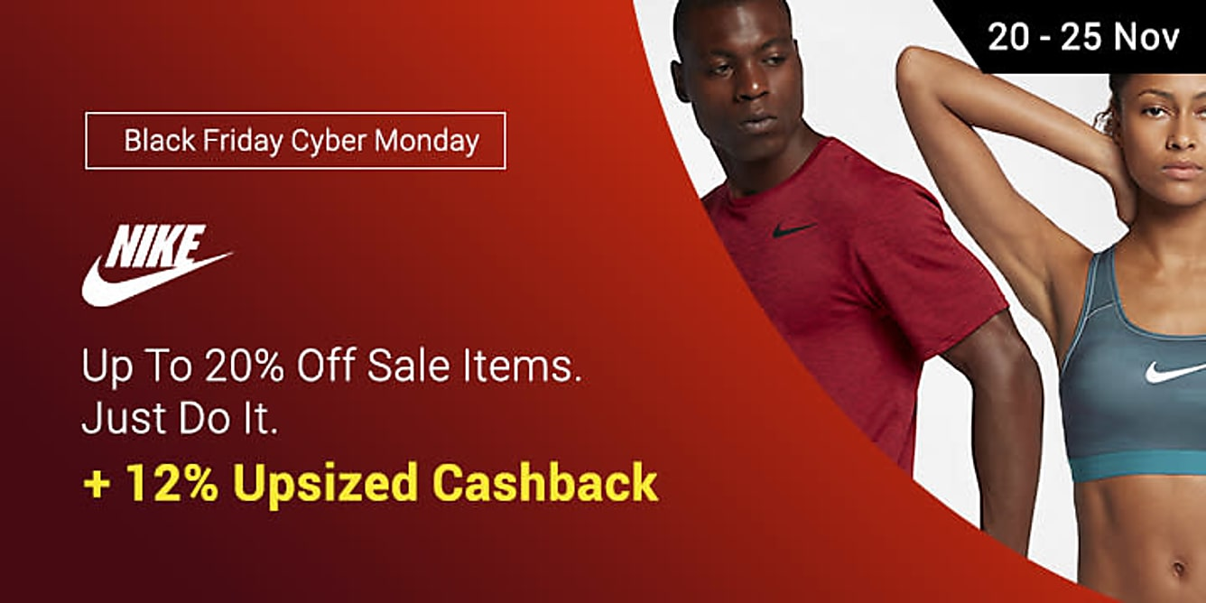 Nike 20% Off Sale Items + 12% Upsized Cashback