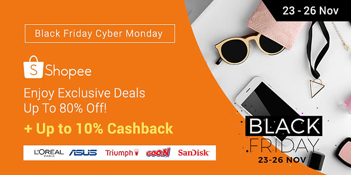 Shopee BFCM sale up to 80% off