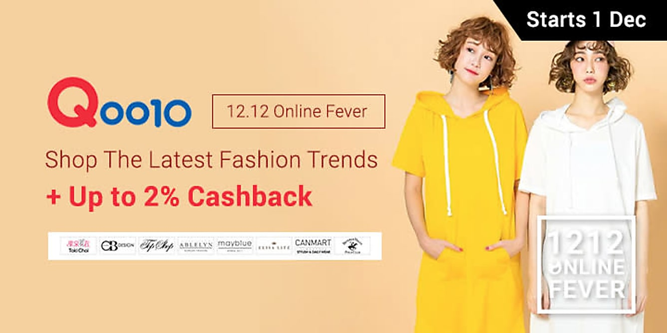 Qoo10 Women's Fashion 2% upsized Cashback