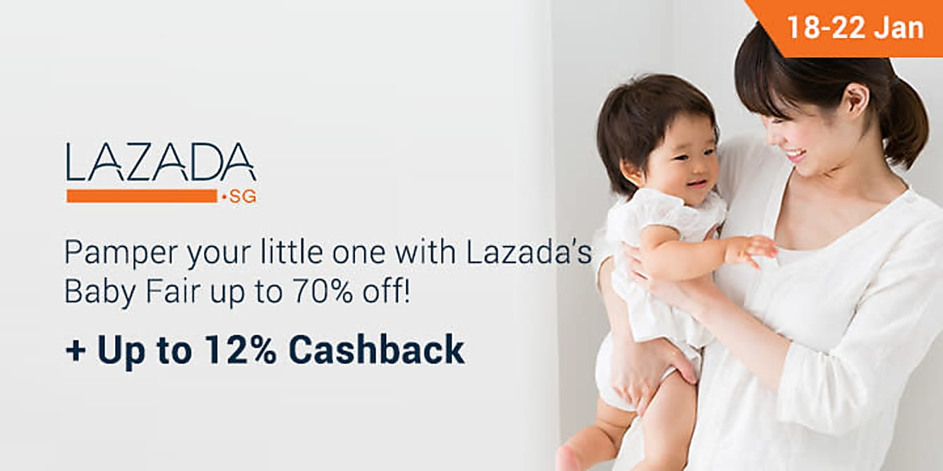 Lazada baby fair up to 70% off from 18-22 Jan