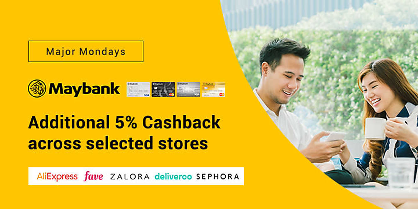 Maybank additional 5% upsized Cashback every Monday