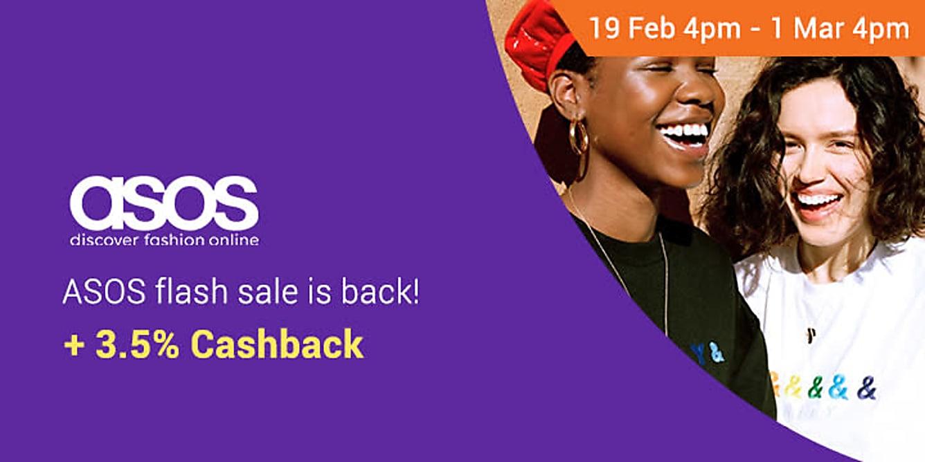 ASOS 3.5% cashback till 28 Feb