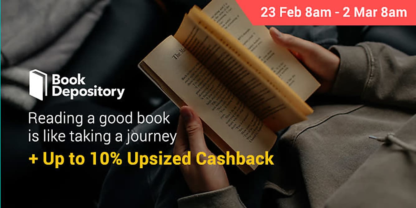 Book Depository up to 10% upsized Cashback 23 feb 8am - 2 march 8am