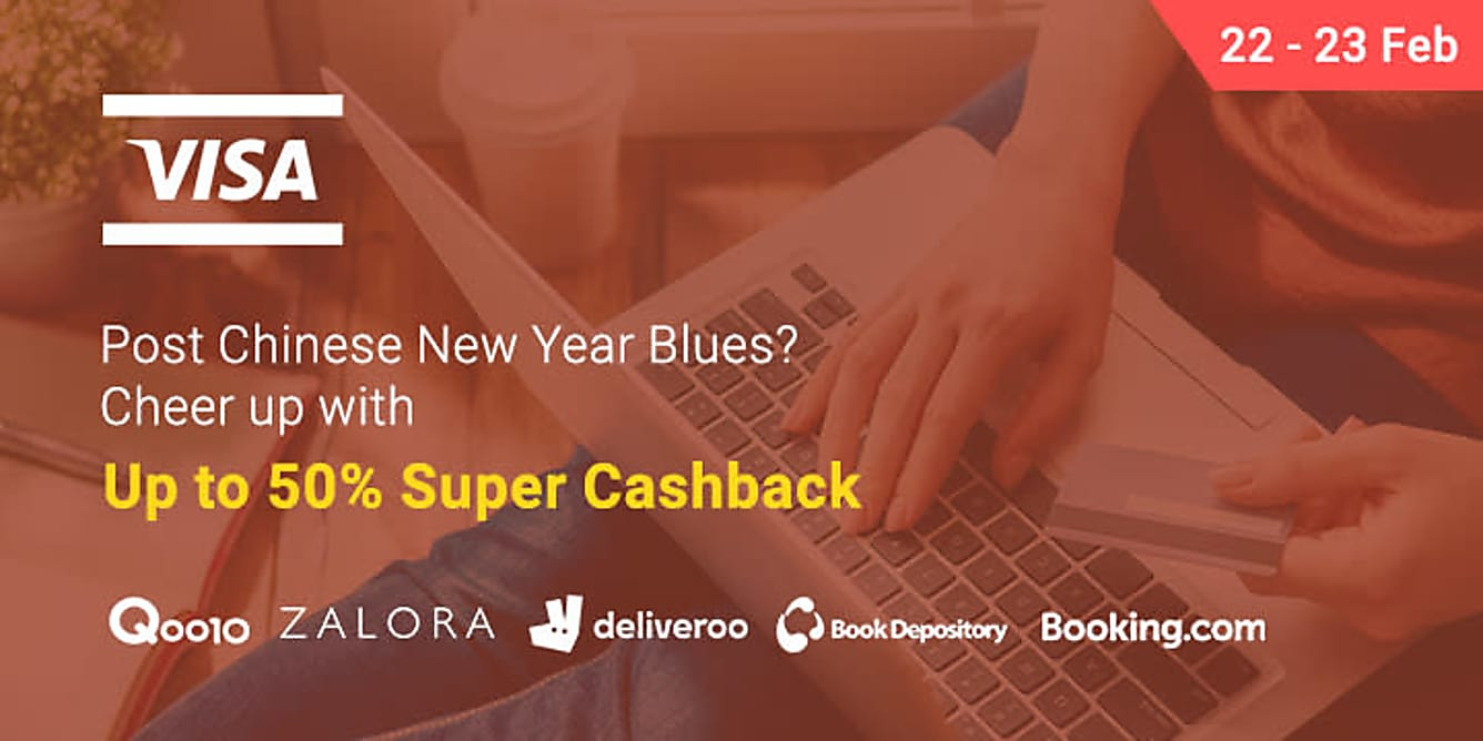 VISA Flash Sale 22-23 Feb Up to 50% Cashback