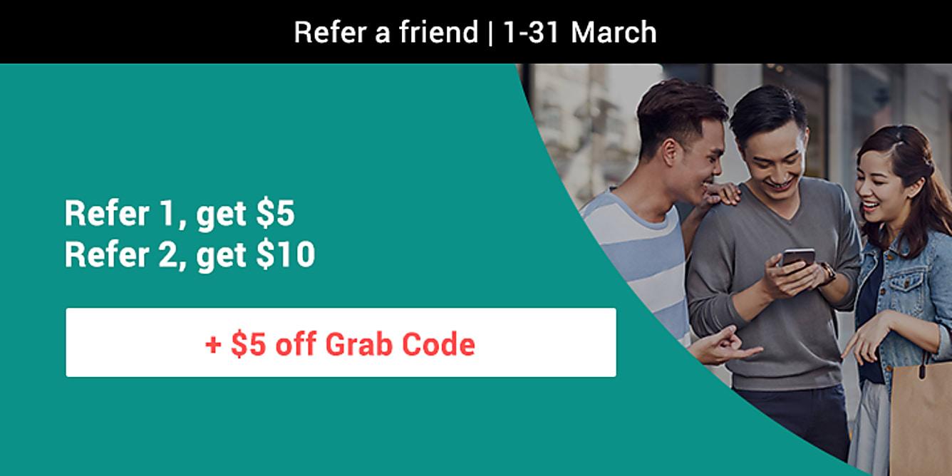 RAF refer 1 get $5, refer 2 get $20 for March 2018