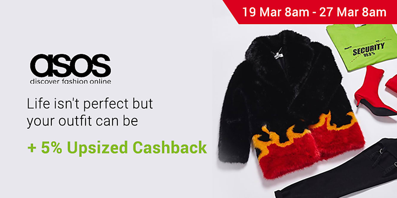 ASOS 5% upsized Cashback from 19-27 March