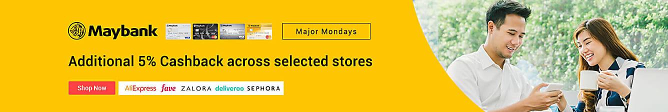 Maybank additional 5% Cashback every Monday
