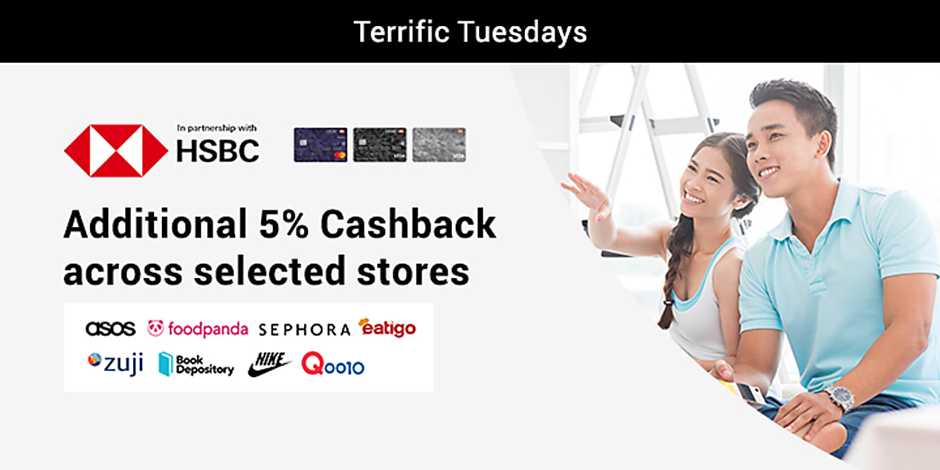 HSBC additional 5% Cashback every Tuesday