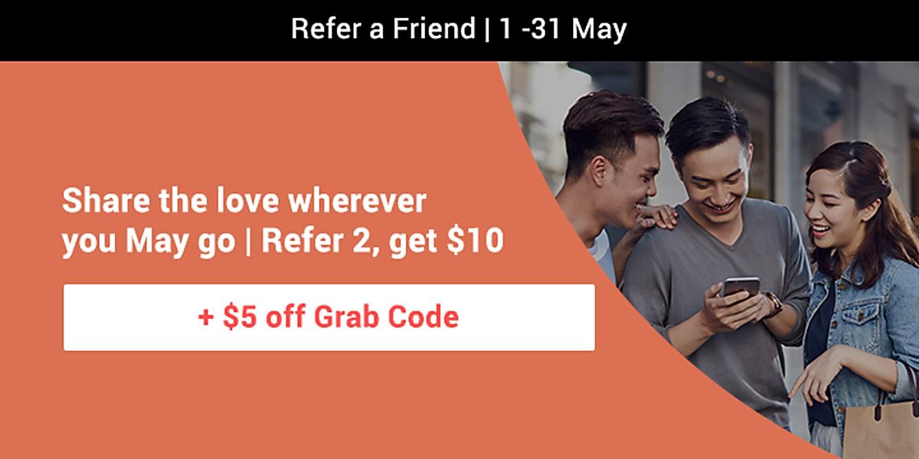 Refer 2, get $10